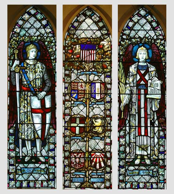Three stained glass images